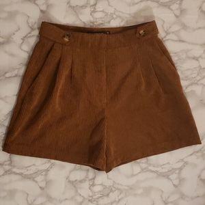 Zara Basic corduroy shorts